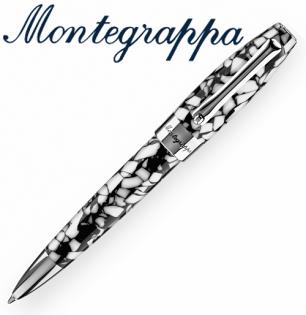 義大利Montegrappa萬特佳財富馬賽克系列-原子筆(黑白)ISFOBBIC支