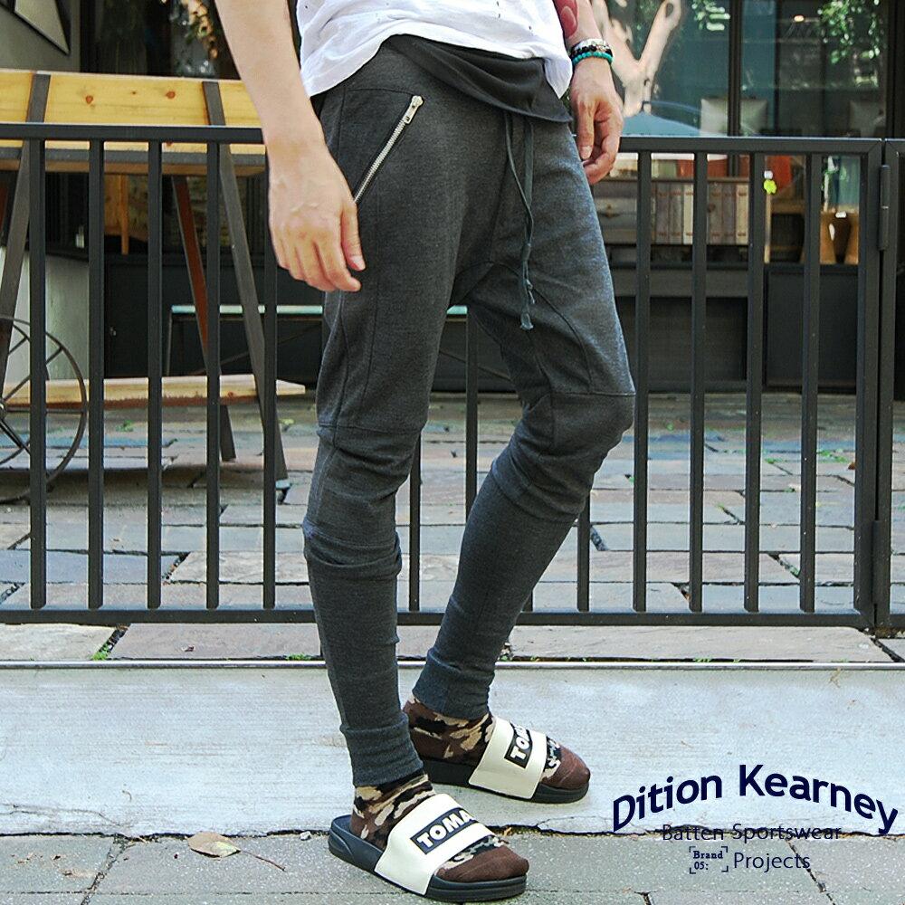 DITION  機能拉鍊JOGGER膝蓋螺紋飛鼠縮口棉褲 0