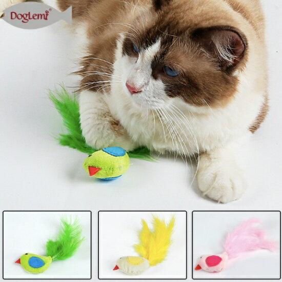 ++貓咪無聊好玩伴++小鳥羽毛貓草玩具-小樂寵