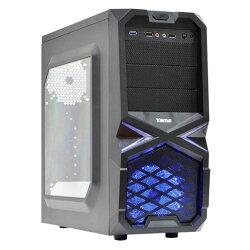 【滿千折100+最高回饋23%】YAMA 雅瑪 黑曼巴 三大 USB3.0電腦機殼 內含一組LED風扇
