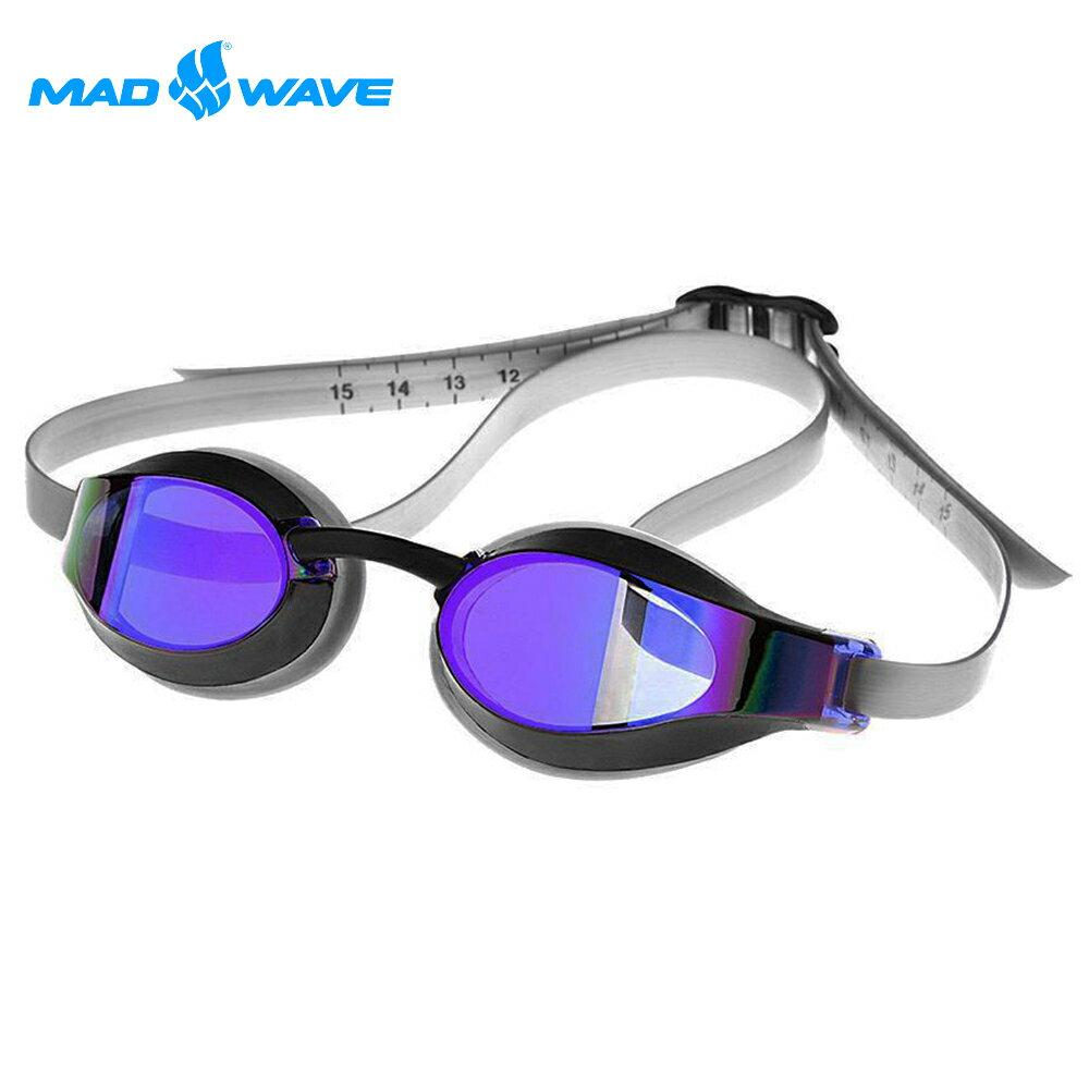 俄羅斯MADWAVE成人泳鏡X-LOOK RAINBOW 2