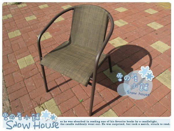 ╭☆雪之屋小舖☆╯@新品上市@高級日式復古鐵製網布椅/戶外透氣椅/居家休閒--台灣製造