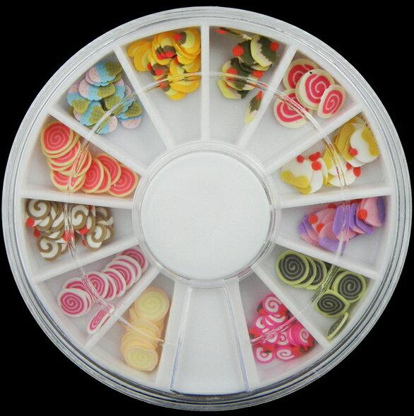 50%OFF SHOP【L08569NA】霜淇淋棒棒糖 6cm鑽盒軟陶條軟陶片 指甲油美甲飾品