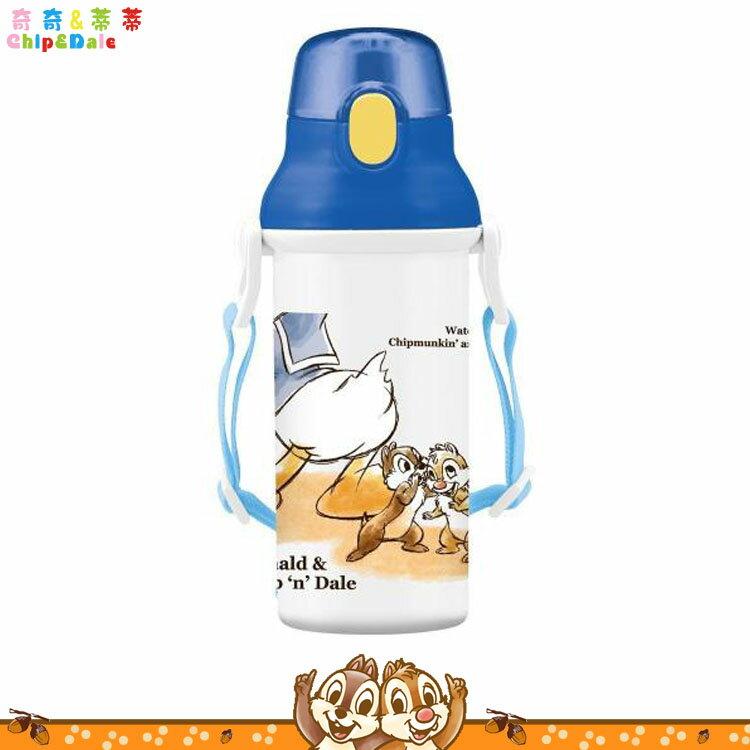 迪士尼 Disney 奇奇&蒂蒂 唐老鴨 彈蓋直飲式水壺 直飲式冷水壺冷飲壺彈蓋水壺 日本進口正版 654750