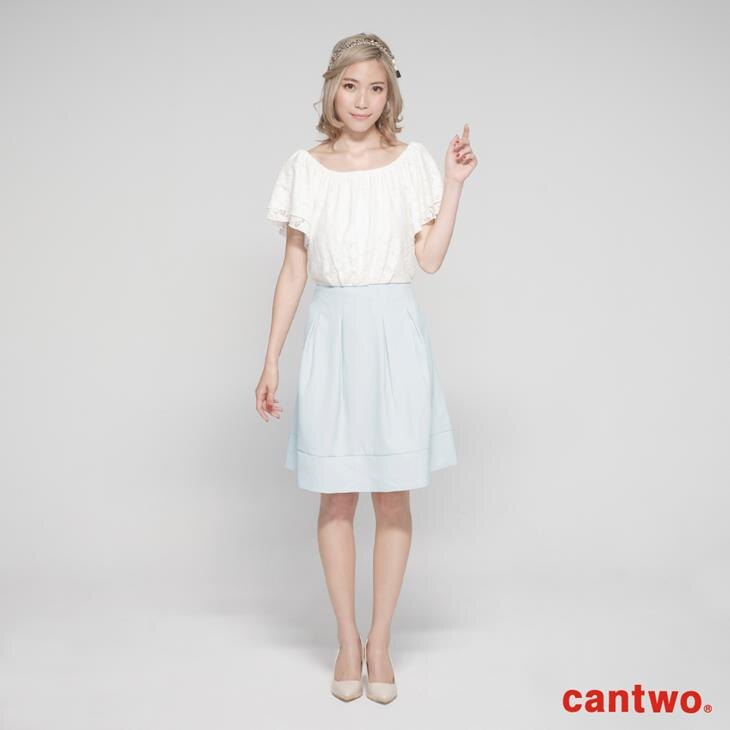 cantwo蕾絲雙層荷葉袖洋裝(共二色) 0