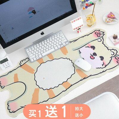創意個性動漫可愛滑鼠墊 超大電腦滑鼠書桌墊防水女生ins風小號HS11【全館免運 限時鉅惠】