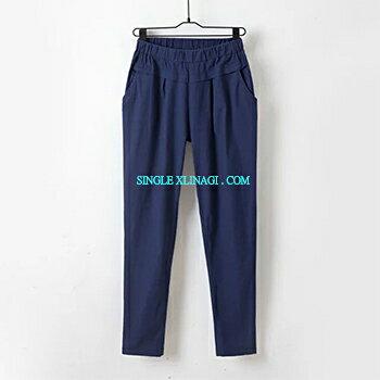 LINAGI里奈子 ~ZH516~42~69~韓KOREA 簡單休閒雙口袋腰間寬鬆伸縮帶百