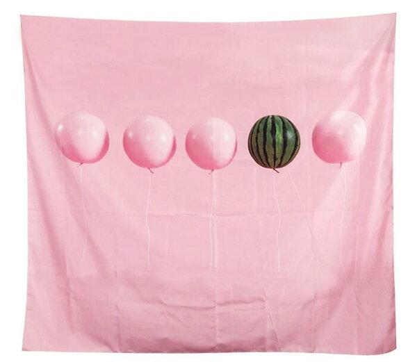 WallFree窩自在★北歐風裝飾掛布-西瓜與氣球(沙灘巾背景布ins拍攝布景掛畫掛毯掛布牆面裝飾捕夢網背景布拍攝牆牆壁裝飾掛飾沙發巾)