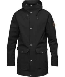 【Fjallraven小狐狸瑞典】GreenlandEco-Shell防水夾克防水外套機能外套長版外套軍裝外套男款黑(87205)