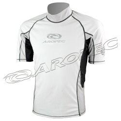 【【蘋果戶外】】AROPEC SS-3K10M-WT(白/銀) 百分百台灣製 品質保證 抗UV設計款男款短袖萊克衣