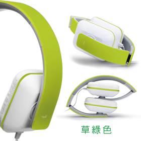 【迪特軍3C】E-books S3 線控接聽頭戴摺疊耳機綠 柔軟頭戴可伸縮調整 與耳部服貼吻合