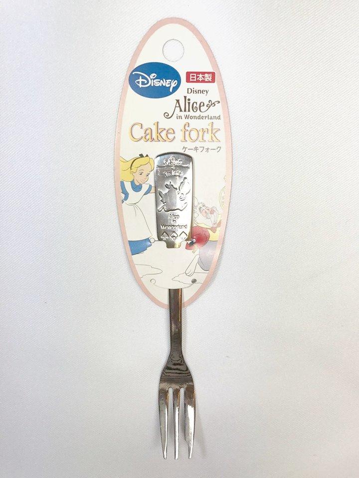日本製 迪士尼 不鏽鋼餐具 愛麗絲 蛋糕叉 叉子(小) *夏日微風*