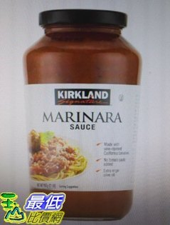 [COSCO代購如果售完謹致歉意]W996510科克蘭蕃茄義大利麵醬907公克X3罐