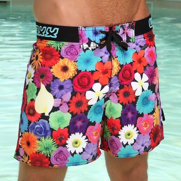 《WAXX》百花齊奔放-高質感吸濕排汗男性海灘短褲,121-WA-MB3291,WAXX
