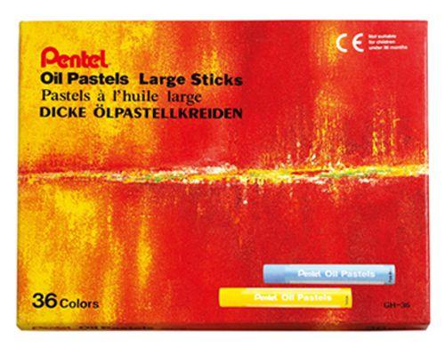 Pentel 特大粉蠟筆系列36色 GHT~36T HFPWP