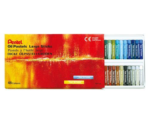 Pentel 特大粉蠟筆系列48色 GHT-48T HFPWP