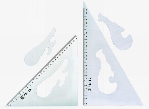 萬事捷 PS 三角板 30cm (內雲形)