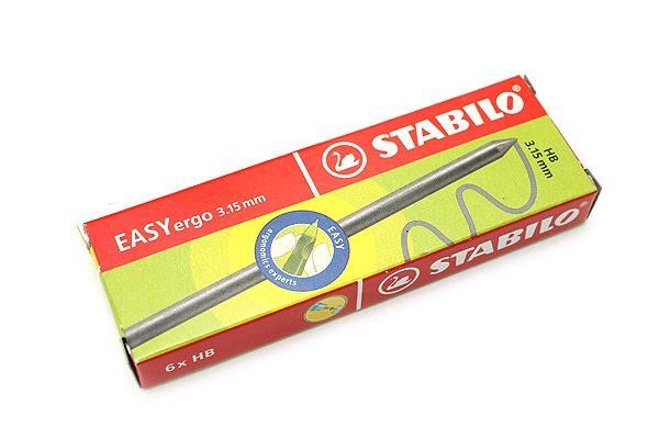 STABILO 德國天鵝牌 EASYergo3.15 專用鉛筆芯HB--1盒6支筆蕊入(型號:7890/6-HB)