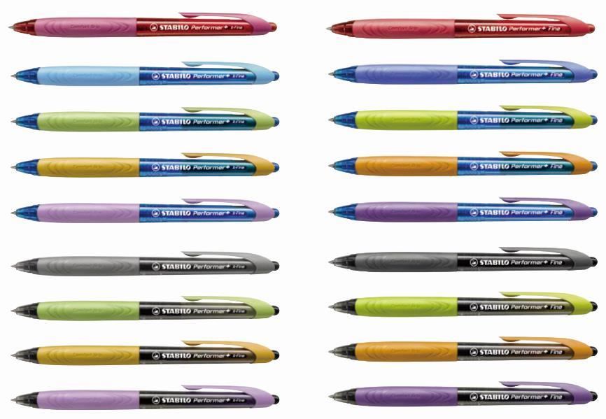 STABILO 德國天鵝牌 Performer+ 表演家系列 超滑順 原子筆(共2種規格 多種顏色可選)