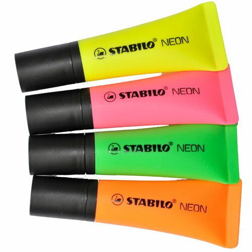 ~40支 ~STABILO 德國天鵝牌 NEON系列 螢光筆 共4種顏色