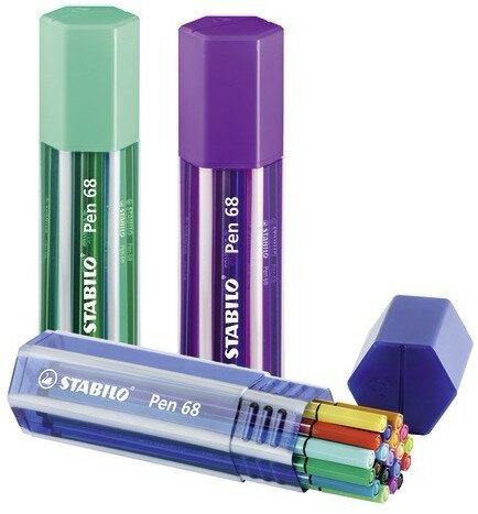 STABILO 德國天鵝牌 Pen 68系列 彩色筆 六角膠盒裝 20色20支入 型 號: