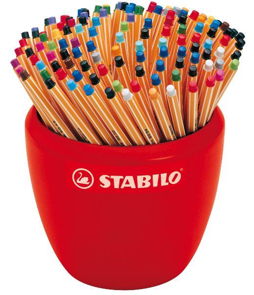 STABILO 德國天鵝牌 point 88 系列 簽字筆 20色 重量級典藏組 一缸15