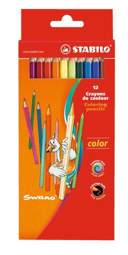 STABILO 德國天鵝牌 Color系列 六角形色鉛筆 紙盒組 12色12支裝^( :1