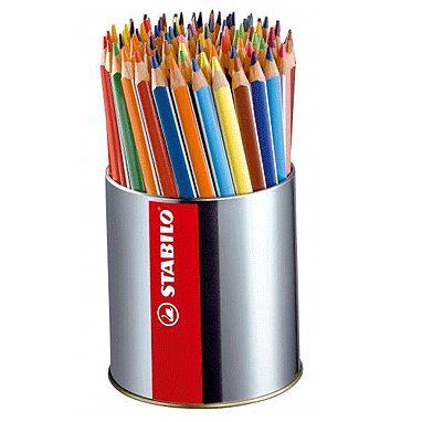 STABILO 德國天鵝牌 Trio thick系列 三角筆身色鉛筆 筆筒裝 18色92支