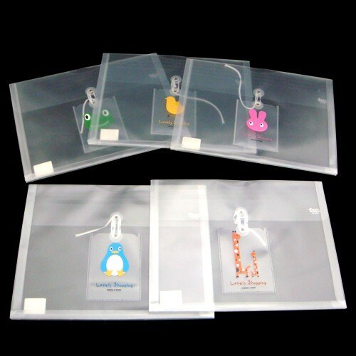 ~ ~5折15元  個  10個量販  HFPWP 卡通立體橫式文件袋 防水無毒塑膠 製