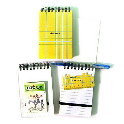 黃色布格子口袋型筆記本 YPN3351 HFPWP