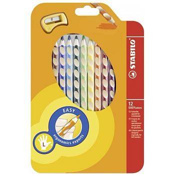 左手 人體工學色鉛筆12色入STABILO 德國天鵝牌 EASYcolors   :331