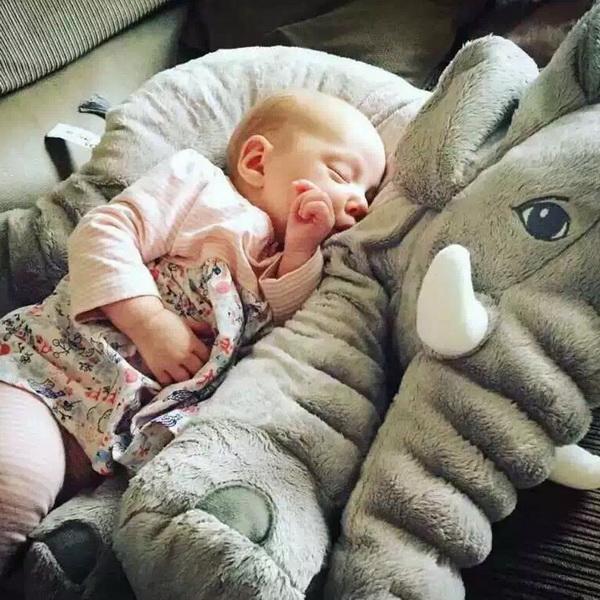 Plush Baby Soft Elephant Sleep Pillow Large Stuffed Animal Doll Kids Toys 1