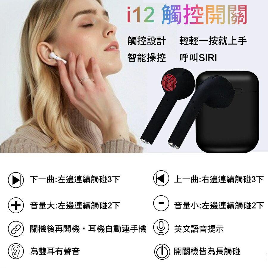 i12 tws 藍芽5.0 無線耳機 運動藍芽耳機 多顏色 磁吸 觸碰感應 雙耳通話 支援彈窗 語音助理 馬卡龍藍芽耳機