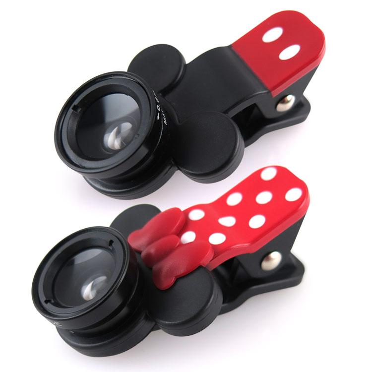 【Disney 】Hamee 迪士尼Disney 手機廣角鏡頭夾系列 魚眼 特寫廣角 三種鏡頭組