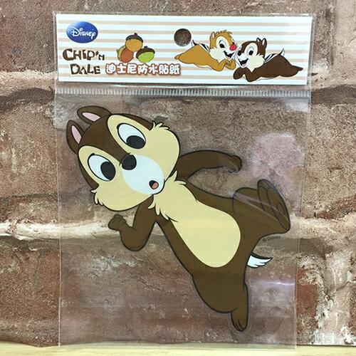 【真愛日本】17072400005 防水貼紙L-奇奇抬腳 迪士尼 奇奇蒂蒂 花栗鼠 松鼠 行李箱裝飾貼紙