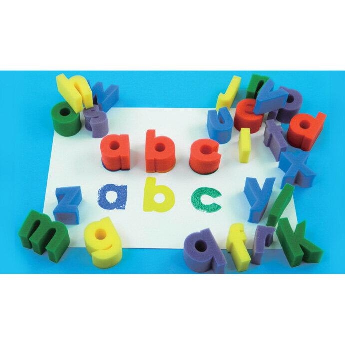 【華森葳兒童教玩具】美育教具系列-海綿印章-小寫英文字母 L1-AP/796/SSLC
