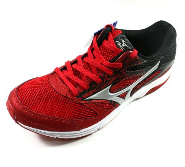 [陽光樂活] MIZUNO 美津濃 WAVE EMPEROR TR2 (男) 路跑鞋 - J1GA178603 黑x紅