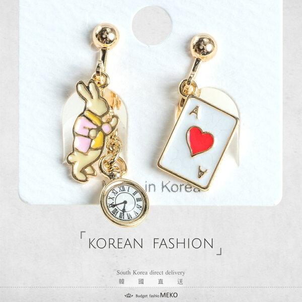 meko美妝生活百貨:奇幻旅程-粉-夾式耳環