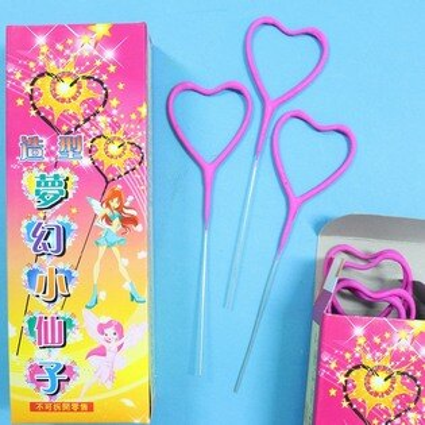 心型彩色仙女棒心型仙女棒童玩長約16cm一件36盒入(一盒10支){定100}