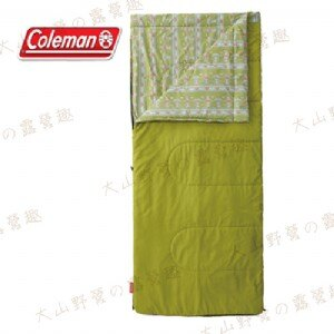 【露營趣】中和安坑 Coleman CM-27263 COZY 萊姆綠睡袋/C15 刷毛睡袋 信封型睡袋 化纖睡袋 纖維睡袋 可全開拼接