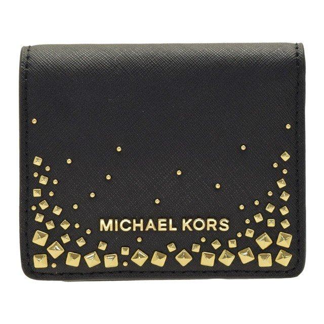MICHAEL KORS 鉚釘裝飾星空短夾 兩色 預購