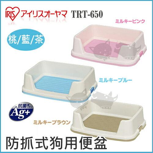 《日本IRIS》防抓式狗用便盆 IR-TRT-650 / 桃色 / 藍色 / 茶色 - 犬用