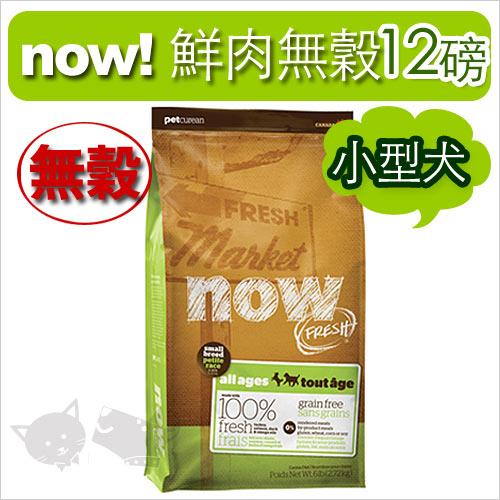 《NOW!》Fresh鮮肉無穀天然糧-小型犬(小顆粒)配方12磅 / 狗飼料