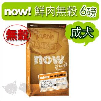 《NOW!》Fresh鮮肉無穀天然糧-成犬配方 6磅 / 狗飼料