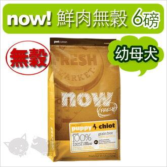 《NOW!》Fresh鮮肉無穀天然糧-幼犬配方 6磅 / 狗飼料