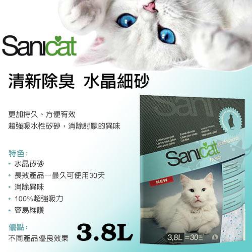 《Sanicat》★西班牙知名★水晶細砂/清新配方水晶砂3.8L