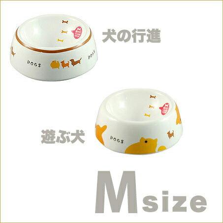 《 日本Marukan 》 犬用刻度瓷碗寵物碗2款-犬行進.犬遊戲[M]