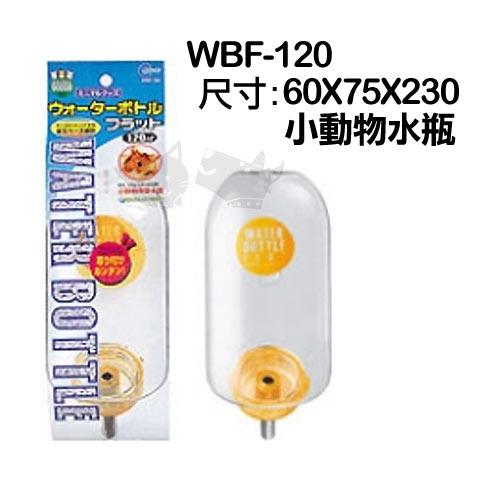 《日本Marukan》鼠用扁平式水瓶WBF-120/天竺鼠 花栗鼠 蜜袋鼯可用