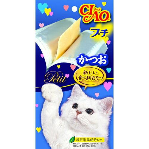 ayumi愛犬生活-寵物精品館:《日本CIAO》噗啾系列-肉泥貓咪零食(5入)可添加在飼料-鰹魚