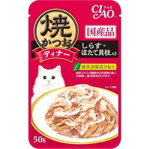 《日本CIAO》燒魚魚柳餐包+小魚干貝口味50g